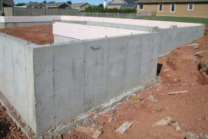 Home concrete foundation